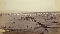 Camp at Rupar. Siwalik Hills in the distance [opening of the Sirhind Canal]